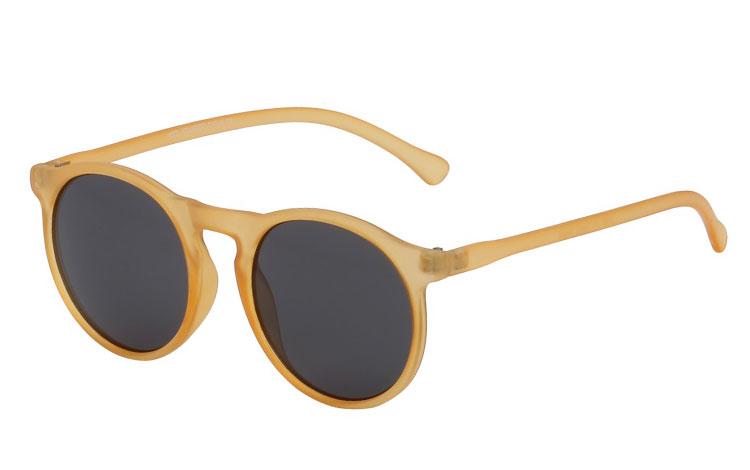 f677efb27e58 Lysgul mat rund solbrille - Design nr. s691 i Runde solbriller