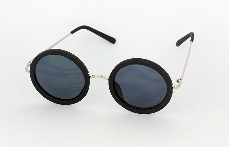 35ecf7bf38bd Mat sort rund solbrille - Design nr. s1070 i Runde solbriller
