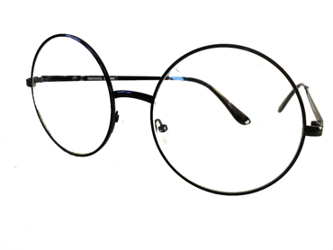 Rund brille i sort - Design nr. 1975