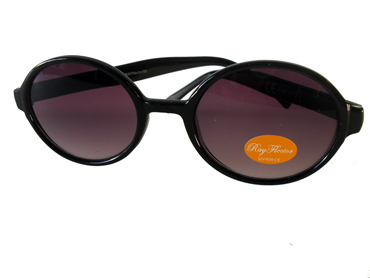 Oval solbrille i sort - Design nr. 2032