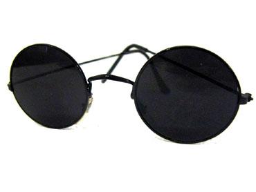 81f5f43d7 Runde solbriller i sort metal - Design nr. s306 i Solbriller med ...
