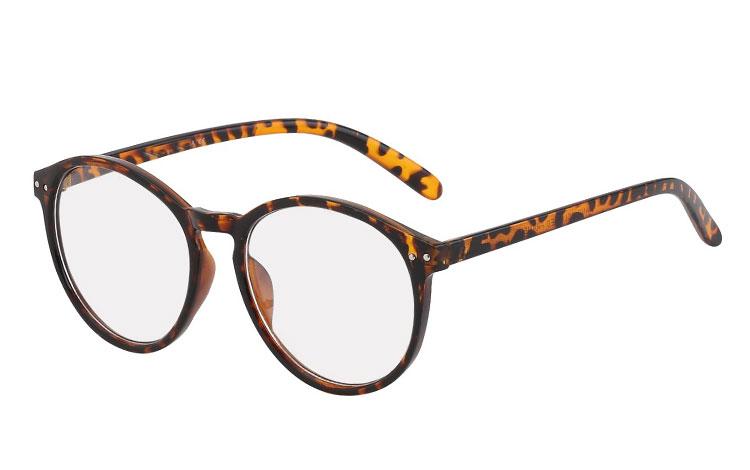 e7a9599dd3d8 Billig Skildpaddebrun rund brille uden styrke - Norges billigste solbriller