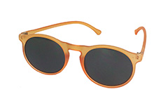 Mat orange rund solbrille - Design nr. 3224