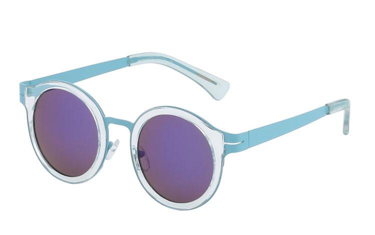 aba39e4157ee Flot pastelfarvet solbrille med metal og plastik detaljer - Design nr. 3433