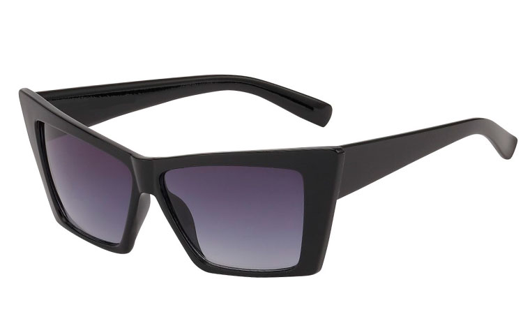 Sort stilet cateye solbrille - Design nr. 3581