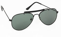 Sort aviator solbrille - Design nr. 3030