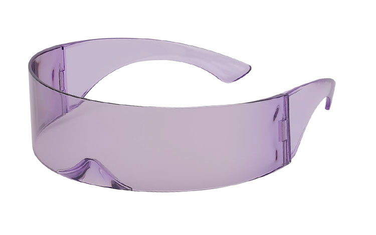 Star Trek / High Fashion solbrille i transparent lyslilla - Design nr. 3645