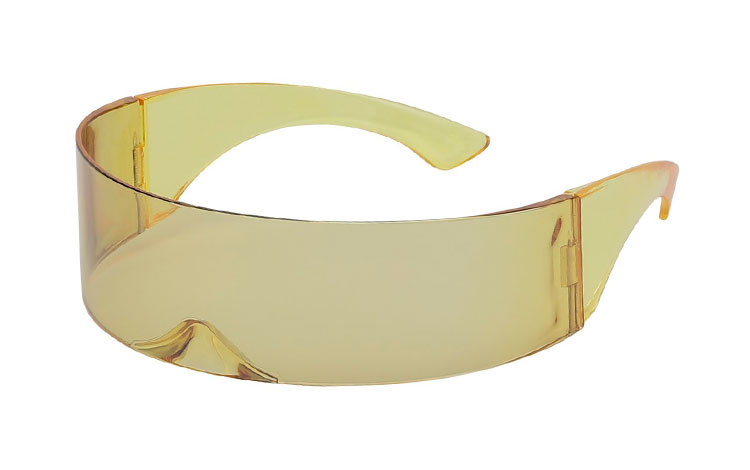 Festival / Spacy solbrille i transparent lysegul - Design nr. 3648