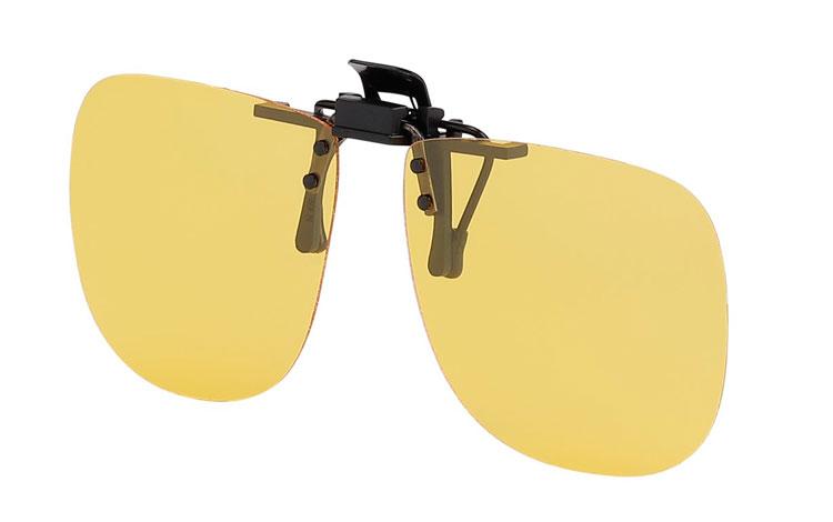 Gul polaroid clip-on solbrille. Perfekte kørebrille - Design nr. 3695 46edb66cd7311