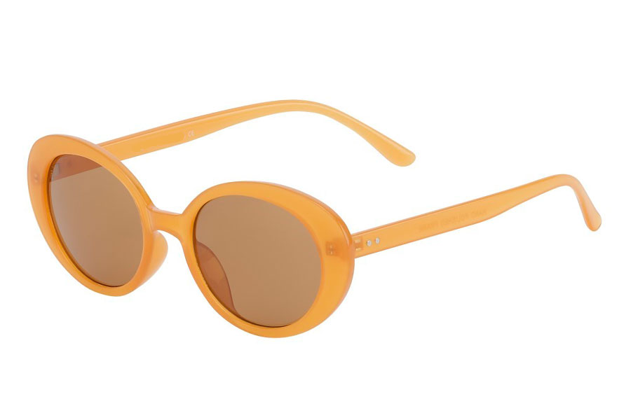Smokey-orange farvet flower power hippie solbrille - Design nr. s3753