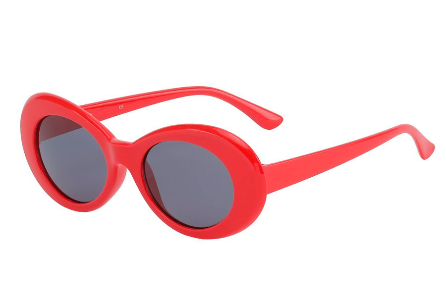 Rød flower power hippie solbrille - Design nr. s3755