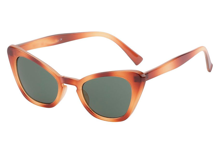 Cateye solbrille i orange-beige smokey farvet stel - Design nr. 3796