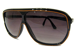 Brun aviator med orange - Design nr. 849